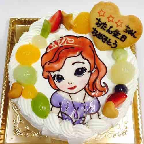 小さなプリンセス ソフィアの鶏卵不使用ケーキ