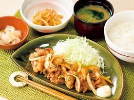 豚肉の生姜焼き和膳