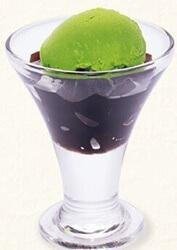 ぷるぷる黒糖ゼリー&抹茶アイス