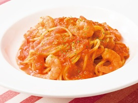 海老のトマトソーススパゲティ