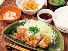 若鶏の竜田揚げ和膳 おろしポン酢