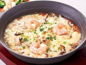 海老ときのこの雑炊