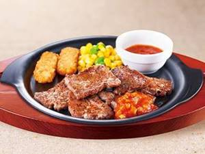 ビーフカットステーキ(醤油ソースORガーリックソース)