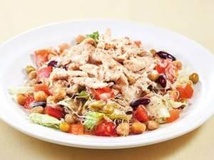サラダチキンと3種豆のサラダ 胡麻ドレッシング(L)(S)